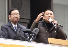 【テロ政党日本共産党】共産党・志位和夫とれいわ・山本太郎が応援演説 京都市長選