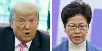 【米】トランプ政権、香港政府トップら11人に制裁 中国側は対抗措置か ★4